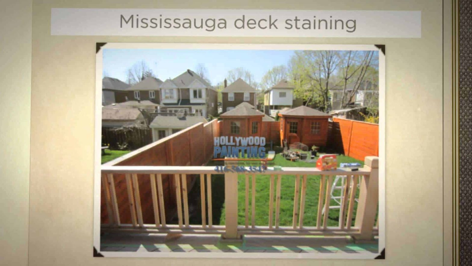 Deck repairs and stain including fence