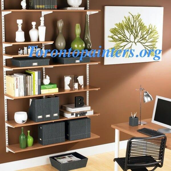 wall-mounted shelving