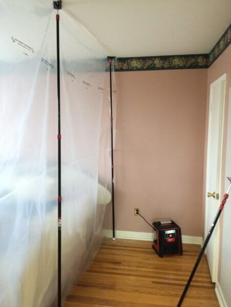 door installation complete now ready to remove plastic