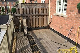 mississauga handyman services-removal deck construction work