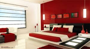 Interior painting red