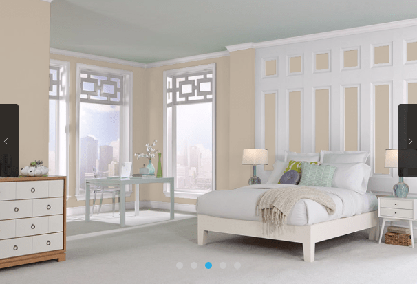 Elegant cloud white Benjamin Moore paint looks