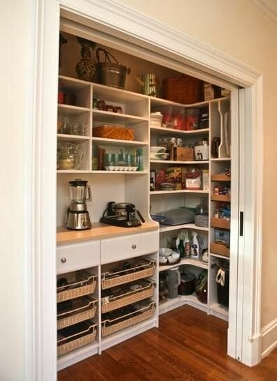 trim carpentry service walk-in pantry